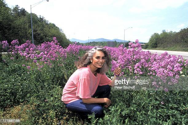 Daliah Lavi-Gans, Ausflug, Asheville, North Carolina, USA, Nord - Amerika, Blüten, Blumen, Natur, Sängerin, Schauspielerin, SI,