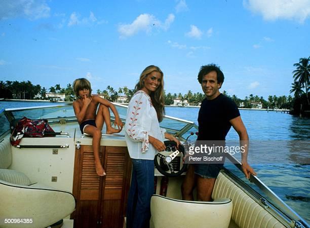 Daliah LaviGans Ehemann Peter Rittmaster Sohn Rouven Boot Sunset Island/Miami Beach/Florida/USA/Amerika/USA Promi Foto PBischoff Sc