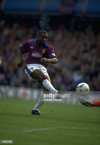 Dalian Atkinson of Aston Villa in action during a match Mandatory Credit Mike Cooper/Allsport