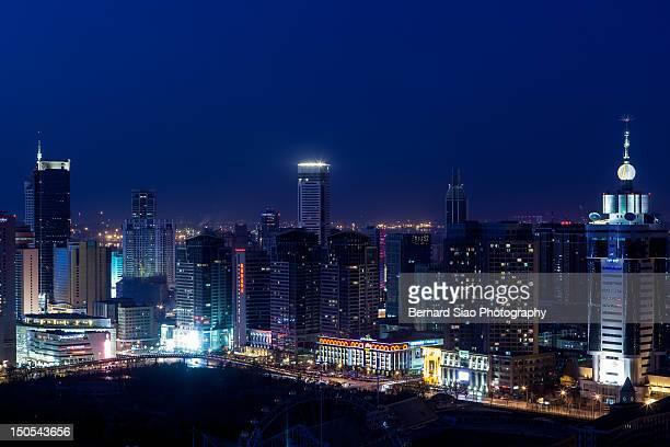 Dalian city at night