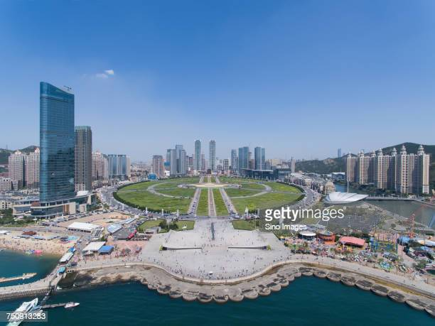 'Dalian cityscape with Xinghai Square, Liaoning, China'