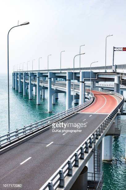 dalian xinghai bay bridge - 山口県 ストックフォトと画像