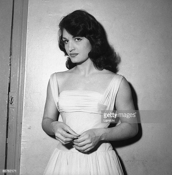 Dalida French singer of Egyptian origin at the Olympia Paris 1957