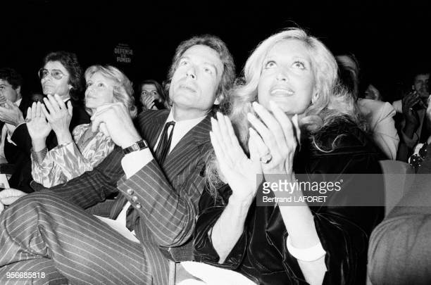 Dalida lors de la 1ère d'Alice Dona à l'Olympia en septembre 1979 à Paris France