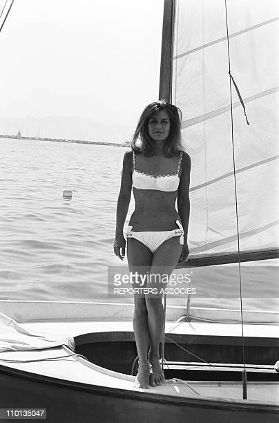 Dalida on holidays on June 26, 1965