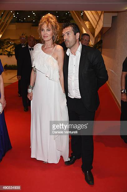 Dalila Di Lazzaro and guest attend the Opening Ceremony Dinner at the 67th Annual Cannes Film Festival on May 14 2014 in Cannes France