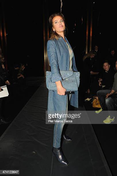 Dalila Di Lazzaro attends the Ermanno Scervino show as part of Milan Fashion Week Womenswear Autumn/Winter 2014 on February 22 2014 in Milan Italy