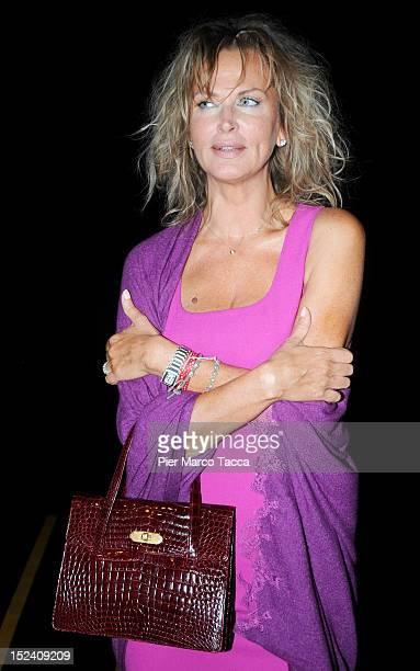 Dalila di Lazzaro attends the Ermanno Scervino Spring/Summer 2013 fashion show as part of Milan Womenswear Fashion Week on September 20 2012 in Milan...