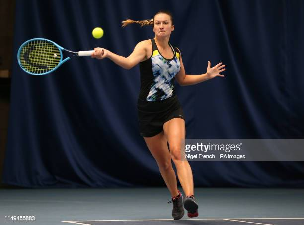 Dalila Jakupovic during day five of the Nature Valley Open at Nottingham Tennis Centre