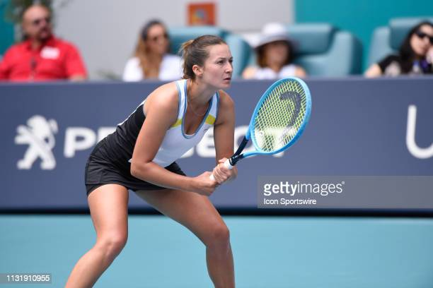 Dalila Jakupovic loses her match against Venus Williams 75 63 at the Miami Open on March 21 at Hard Rock Stadium in Miami Gardens FL