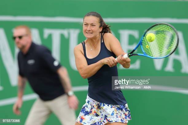Dalila Jakupovic of Slovenia during Day Seven of the Nature Valley open at Nottingham Tennis Centre on June 15 2018 in Nottingham England