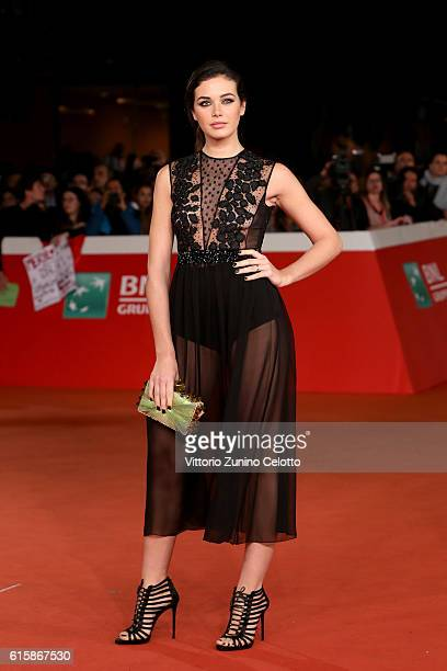 Dalila Pasquariello walks a red carpet for 'Florence Foster Jenkins' during the 11th Rome Film Festival at Auditorium Parco Della Musica on October...