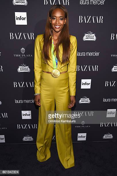 "Dalilah Muhammad attends Harper's Bazaar's celebration of ""ICONS By Carine Roitfeld"" presented by Infor, Laura Mercier, and Stella Artois at The..."