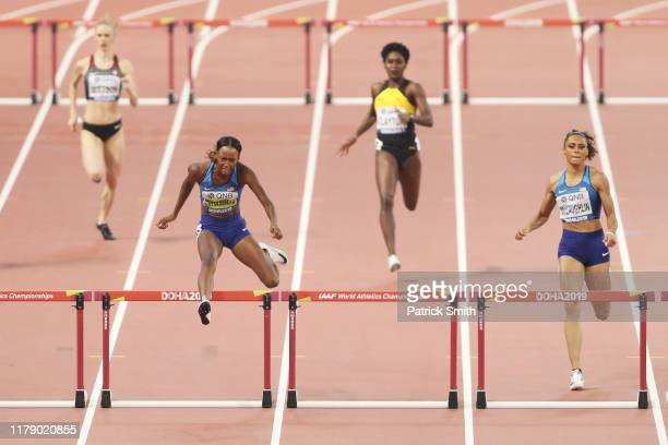 Dalilah Muhammad of the United States competes in the Women's 400 metres hurdles final during day eight of 17th IAAF World Athletics Championships...