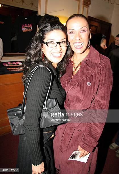 Dalilah Polanco and Consuelo Duval during Latinologues Broadway Opening Night at Helen Hayes Theatre in New York City New York United States