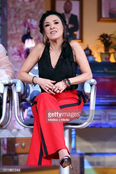 Dalilah Polanco attends a press conference to present Telvisa's new TV series 'DL CompaÒia' at Televisa San Angel on March 11 2020 in Mexico City...