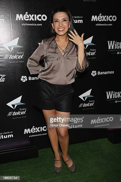 Dalilah Polanco attends the Wicked Mexico City red carpet at Teatro Telmex on October 17 2013 in Mexico City Mexico