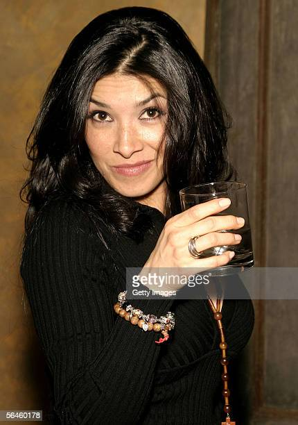 Dalilah Polanco poses at the Latinologues Cast Party sponsored by Jose Cuervo International December 17 2005 at Primus Studios in New York