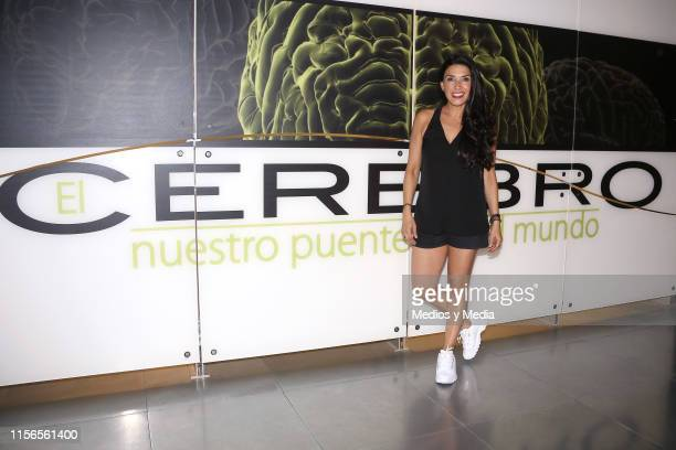 Dalilah Polanco poses for photos during a marketing campaign with best cast of OCESA's theatre shows at Universum on June 17 2019 in Mexico City...