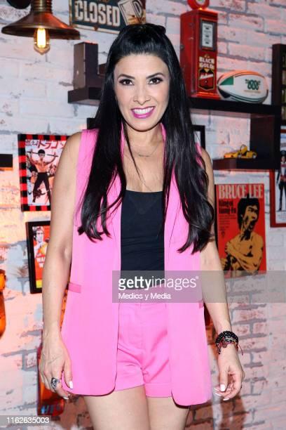 Dalilah Polanco poses for photos during 'Simon Dice' new season presentation at Televisa San Angel on July 17 2019 in Mexico City Mexico
