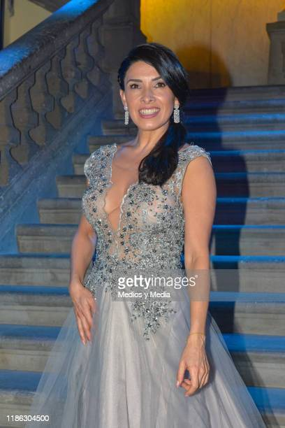 Dalilah Polanco poses for photos during the presentatiion of the serie 'Medicos' latin adaptacion of Greys Anatomy on November 7 2019 in Mexico City...