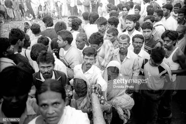 dalits at chaityabhoomi to play the homage to dr. ambedker on 6th december, dadar, bombay mumbai, maharashtra, india - カースト ストックフォトと画像