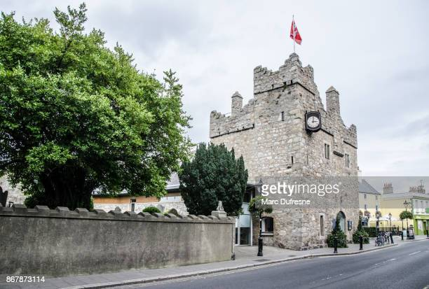 dalkey castle from the street during day of autumn - dalkey stock pictures, royalty-free photos & images