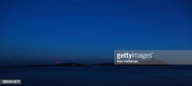 dalkey island last light and stars - dalkey stock pictures, royalty-free photos & images