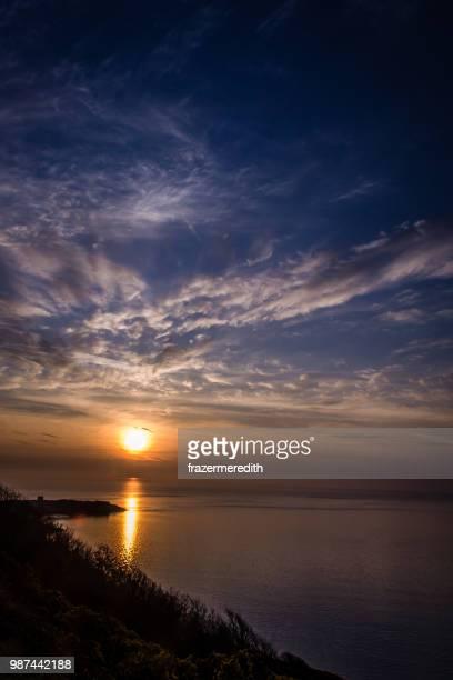 dalkey island sunrise - dalkey stock pictures, royalty-free photos & images