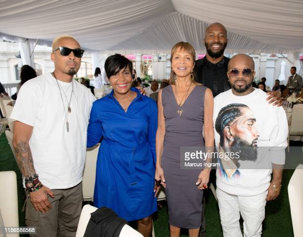 Dallas Austin Mayor Keisha Lance Bottoms Sylvia Rhone Ezekiel Lewis and Jermaine Dupri attend the City of Hope Sylvia Rhone Spirit Of Life Kickoff...
