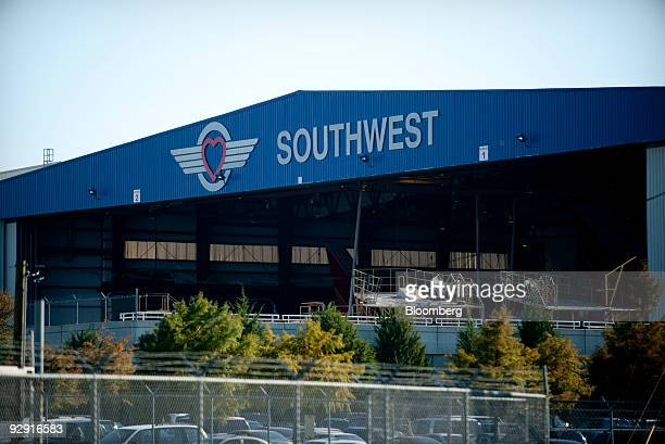 A Dallas based Southwest Airlines hangar stands at Love Field Airport in Dallas Texas US Thursday Nov 2009 Southwest Airlines Co the lowfare carrier...