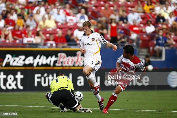Dallas Carlos Ruiz and Ty Harden during the 2007 SuperLiga match between the LA Galaxy and FC Dallas on July 31, 2007 in in Frisco, Texas. LA wins...