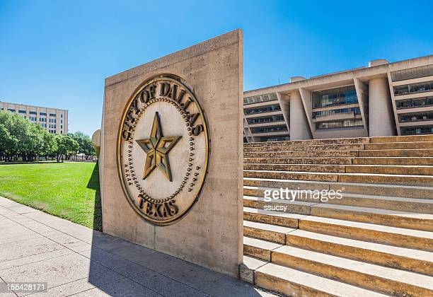 Dallas City Hall and sign