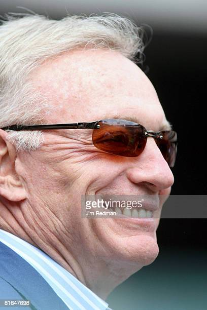 Dallas Cowboy owner Jerry Jones in attendance at the Texas Rangers season opener at Ameriquest Field in Arlington Texas on Friday April 6 2007 The...