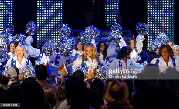 Dallas Cowboys Cheerleaders during 2006 MTV Upfront Feed The Need Show at Madison Square Garden in New York City New York United States