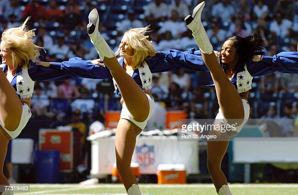 Dallas Cowboys cheerleaders in a game with the Cleveland Browns at Texas Stadium in Irving Texas on September 19 2004 The Cowboys won 19 to 12