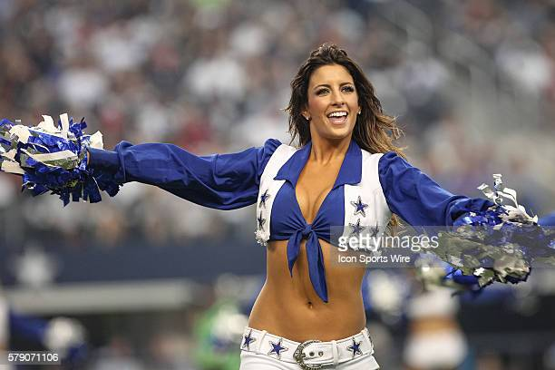 Dallas Cowboys Cheerleaders perform during the NFL season opener football game between the Dallas Cowboys and San Francisco 49ers at ATT Stadium in...