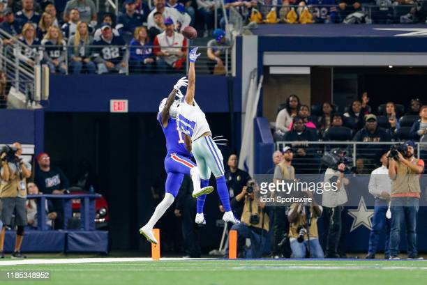 Dallas Cowboys Cornerback Byron Jones tips a ball intended for Buffalo Bills Wide Receiver Robert Foster during the game between the Buffalo Bills...