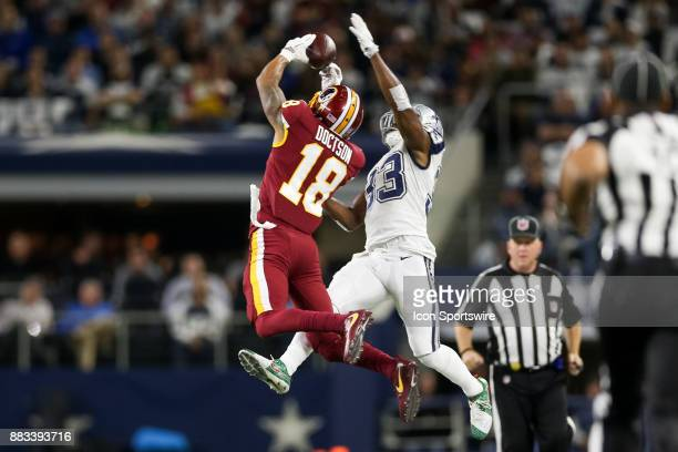 Dallas Cowboys cornerback Chidobe Awuzie breaks up a pass to Washington Redskins wide receiver Josh Doctson during the Thursday Night Football game...