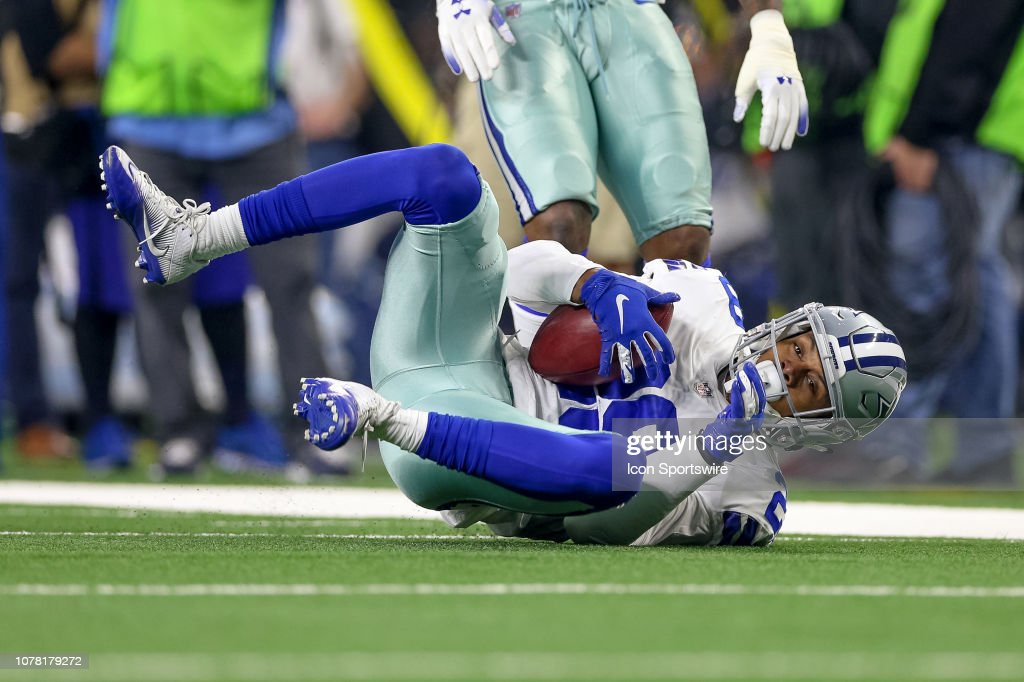 timeless design 15c58 575ab Dallas Cowboys defensive back C.J. Goodwin dives to down a ...