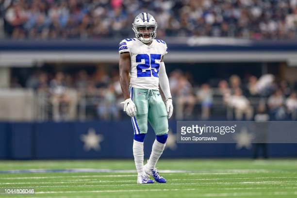 Dallas Cowboys defensive back Xavier Woods waits during a TV timeout at the game between the Detroit Lions and Dallas Cowboys on September 30 2018 at...