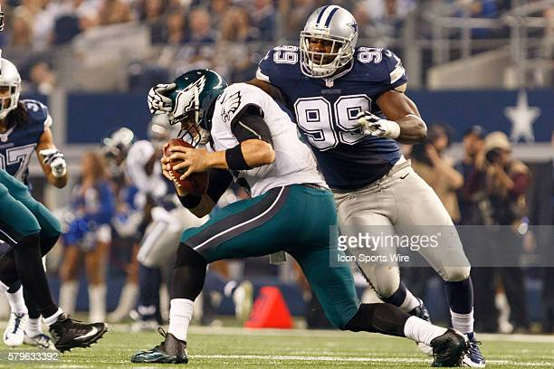 Dallas Cowboys Defensive End George Selvie [11319] is called for roughing the quarterback with a hit to the head on Philadelphia Eagles Quarterback...