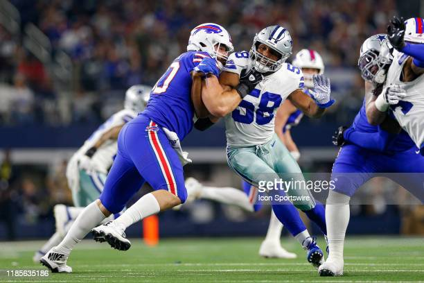 Dallas Cowboys Defensive End Robert Quinn is blocked by Buffalo Bills Center Mitch Morse during the game between the Buffalo Bills and Dallas Cowboys...
