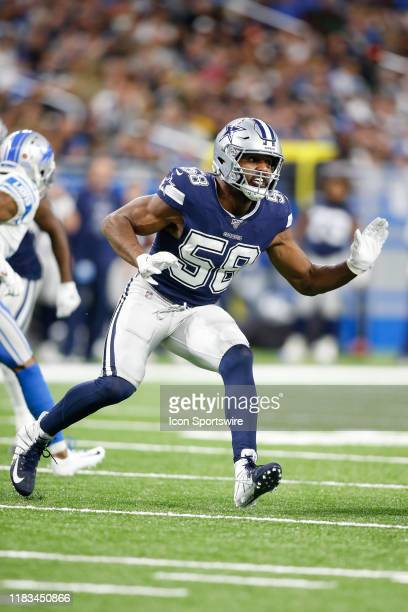 Dallas Cowboys defensive end Robert Quinn rushes during a regular season game between the Dallas Cowboys and the Detroit Lions on November 17 2019 at...