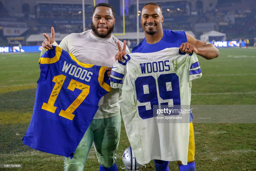 8fc6fde9c Dallas Cowboys defensive tackle Antwaun Woods and Los Angeles Rams ...