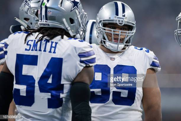 Dallas Cowboys defensive tackle Antwaun Woods in the defensive huddle during the NFL game between the Indianapolis Colts and Dallas Cowboys on...
