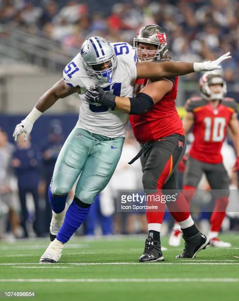 Dallas Cowboys Defensive Tackle Caraun Reid rushes the passer during the game between the Dallas Cowboys and Tampa Bay Buccaneers on December 23,...