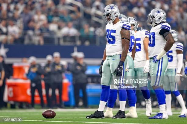 Dallas Cowboys defensive tackle David Irving glares at the Jacksonville Jaguars offense during the game between the Jacksonville Jaguars and Dallas...