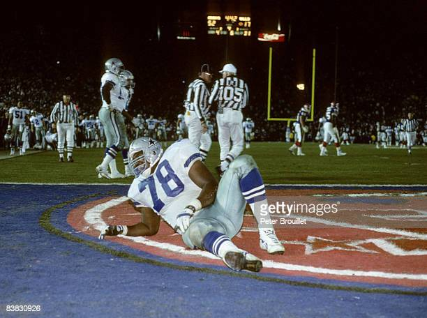Dallas Cowboys defensive tackle Leon Lett failed to score a touchdown when his showboating allowed Buffalo Bills wide receiver Don Beebe to strip the...