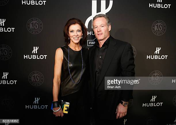 Dallas Cowboys Executive Vice President Charlotte Jones Anderson and Shy Anderson attend Hublot's celebration of it's grand opening of Hublot Fifth...